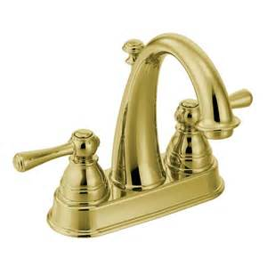 6121p moen kingsley series two handle polished brass