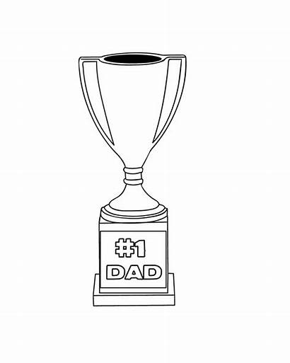 Trophy Dad Coloring Printable Happy Fathers Number