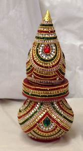 Decorated Nariyal Kalash For Pooja, Buy DECORATIVE Nariyal