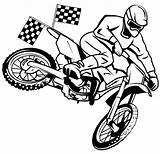 Moto Cross Dirt Coloring Bike Rider Racing Pages Vector Boys Shutterstock sketch template