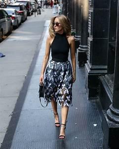 Lace Midi Skirt and Black Bodysuit | MEMORANDUM | NYC Fashion u0026 Lifestyle Blog for the Working Girl