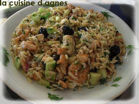 cuisine greque salade de risoni aux crevettes grillées à la grecque la