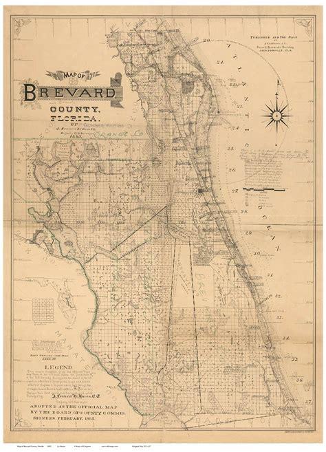 brevard county florida map reprint maps