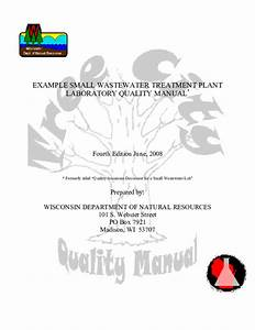 Pdf  Example Small Wastewater Treatment Plant Laboratory