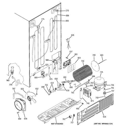 ge model pzsksecfss side  side refrigerator repair replacement parts
