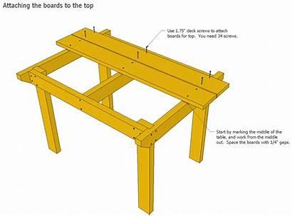Plans Table Patio Wood Outdoor Build Garden