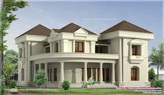 bungalow blueprints 5 bedroom luxurious bungalow floor plan and 3d view home kerala plans