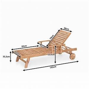 Chaise Jardin Bois : meubles en bois teck chaise longue de jardin beliani ~ Teatrodelosmanantiales.com Idées de Décoration