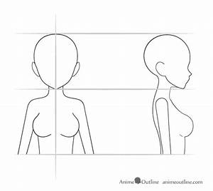 Anime Girl Body Outline Simple Pictures to Pin on ...