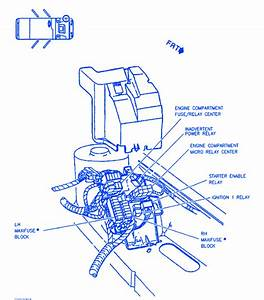 Cadillac Sts 1997 Engine Compartment Electrical Circuit Wiring Diagram