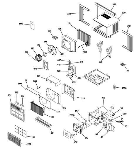 ge room air conditioner parts ash18dds1 sears partsdirect