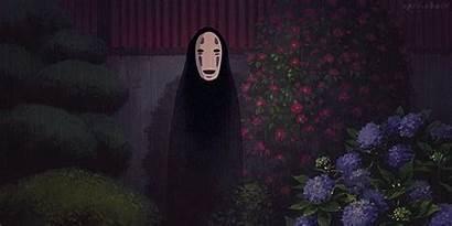 Spirited Face Away Anime Miyazaki Hayao Rain