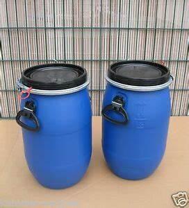 Kunststofftonne Mit Deckel : fass tonne 2 x 30 liter kunststoff blau deckel mit dichtung neu unbenutzt ~ Yasmunasinghe.com Haus und Dekorationen