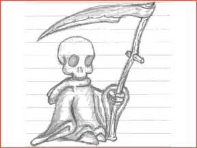 Cool Grim Reaper Drawings in Pencil