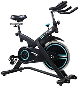 Amazon.com : pooboo Pro Indoor Cycling Bike Belt Driven ...