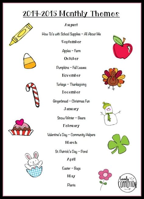 weekly themes for preschool appreciation week 2018 244