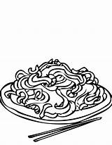 Coloring Chinese Rice Pyramid Chow Mein Drawing Dumpling Foods Printable Chain Drive Getcolorings Clipartmag sketch template