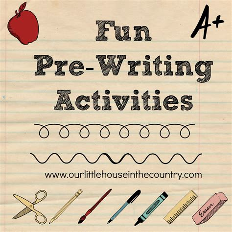 pre writing activities early literacy amp motor 608 | fun pre writing activities