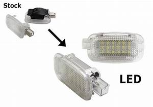 White Exact Fit Led Lamps For Mercedes Side Door  Foot