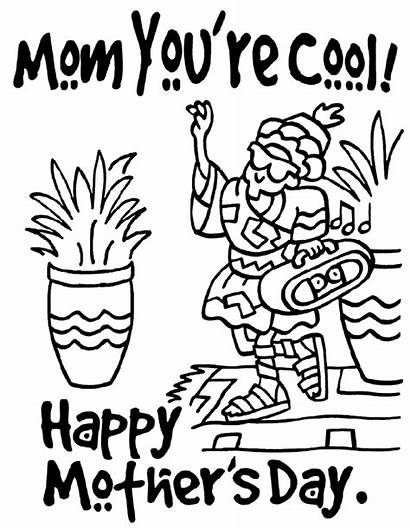 Coloring Pages Mothers Cool Happy Mom Mother