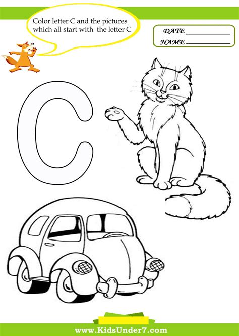 c worksheets for kindergarten learning beginning letter