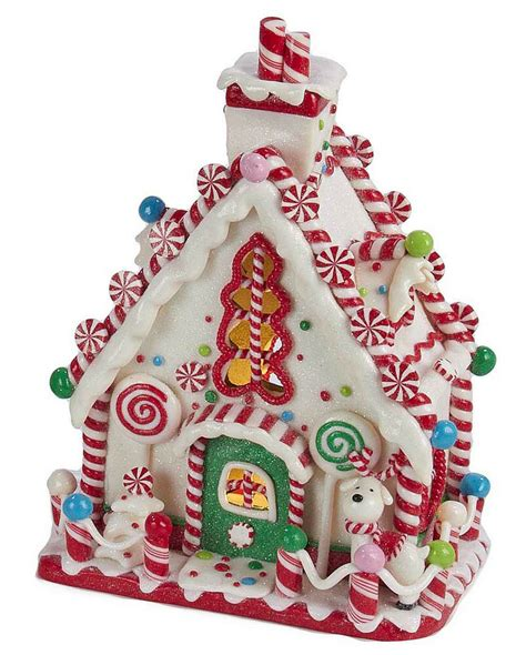 gingerbread house decorations decorations led lighted peppermint
