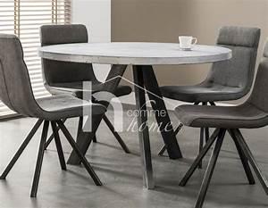 Table A Manger Beton : table a manger ronde beton inox ciceron ~ Teatrodelosmanantiales.com Idées de Décoration