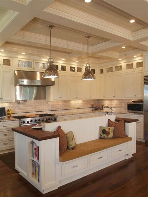 built in kitchen islands kitchen island with built in seating inspiration the