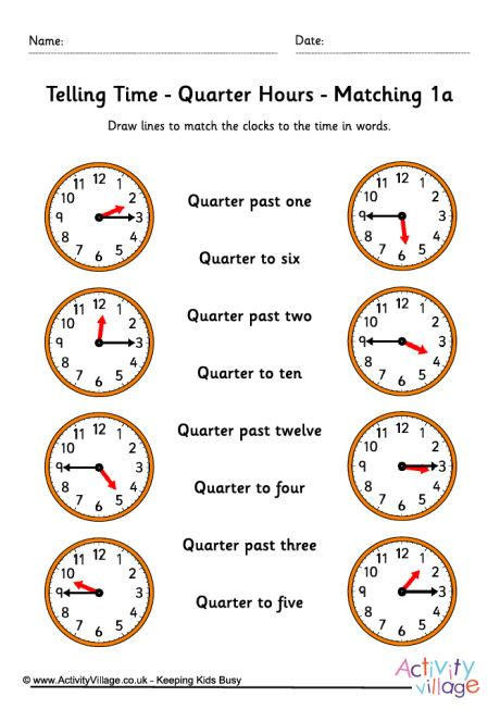 telling time worksheets quarter hours pack 5