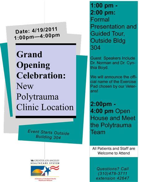 polytrauma clinic grand opening va greater los angeles healthcare