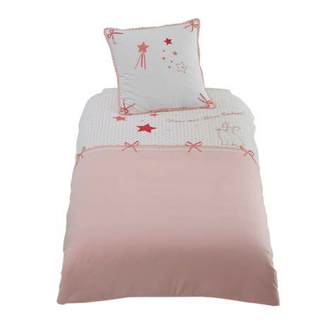 Da Letto Rosa - parure da letto rosa in cotone per bambini 140 x 200 cm