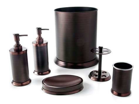 Rubbed Bronze Bathroom Accessory Kit by Pembroke 6 Pc Rubbed Bronze Bath Set