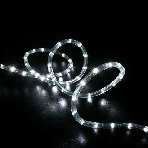 led rope lights and more 25 cool white led rope light home outdoor lighting wyz works