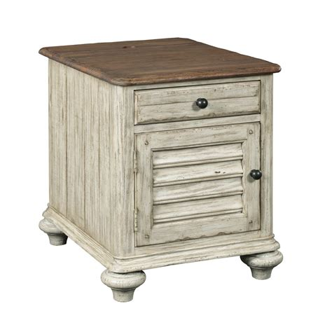 kincaid weatherford collection chairside table