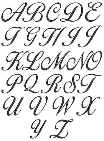 Cursive Alphabets A To Z A Z Cursive Lettering For  Ideas  Cursive Fonts Alphabet, Lettering