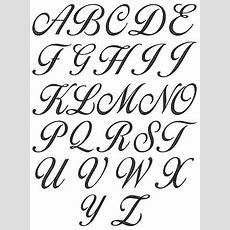 Cursive Alphabets A To Z A Z Cursive Lettering For  Ideas  Calligraphy Alphabet, Cursive Fonts