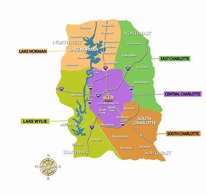Charlotte Map Area Norman Lake Estate Communities
