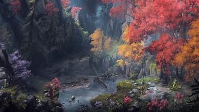 Nature Fantasy Forest Wallpapers Artwork Warrior Backgrounds