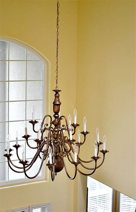 antiques brass chandelier makeover and chandelier