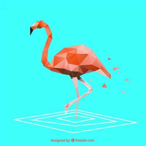 polygonal flamingo vector