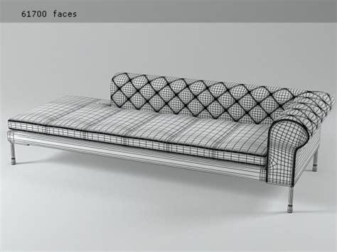 canapé sketchup barocco canape terminal 248 2 3d model zanotta