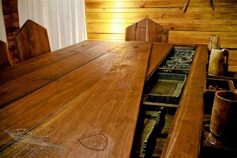 wooden folding attic build a custom gaming table igeekout