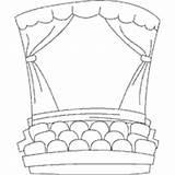 Coloring Stage Teatro Theater Linea Arte Infantil Surfnetkids Colorir Illustrazione Palco Clipart Vuoto Colorear Sobre Adult Gratis Dibujos Abrir Imprimir sketch template