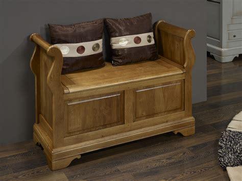 banc coffre bois banc coffre en ch 234 ne massif de style louis philippe meuble en ch 234 ne