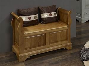 Banc Coffre Bois : banc coffre l o en ch ne massif de style louis philippe meuble en ch ne massif ~ Teatrodelosmanantiales.com Idées de Décoration