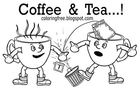 Free Coloring Pages Printable Pictures To Color Kids Drawing ideas: Color Online Free Tea Coffee