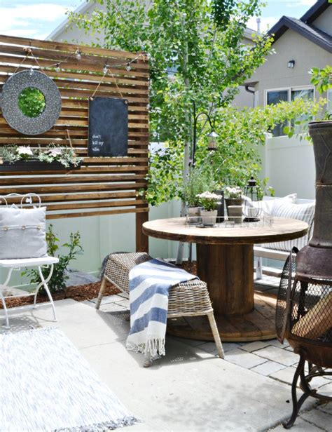 small patio furniture ideas small patio solutions how to build a privacy trellis my