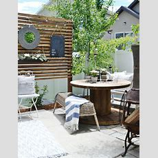 Small Patio Solutions How To Build A Privacy Trellis My