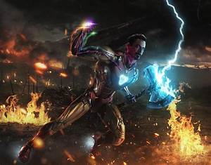 Iron, Man, With, Gauntlet, Wallpapers