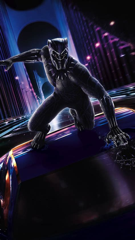 marvel black panther action iphone wallpaper iphone
